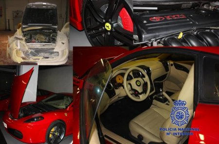 Ferrari заставила полицию Испании уничтожить поддельные спорткары